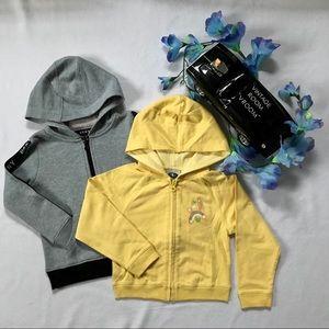 DKNY & Athletic Works NWOT Zip Up Hoodie Girls 3T